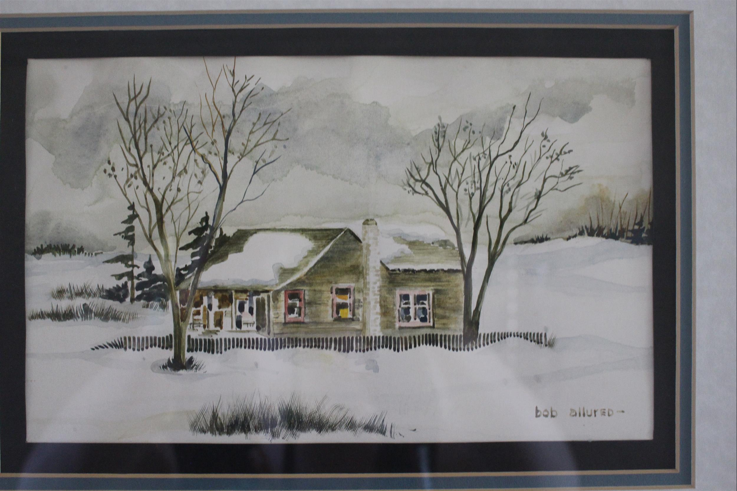 artwork painting of house